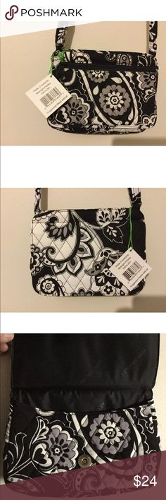 VERA BRADLEY MIDNIGHT PAISLEY PETITE CROSSBODY NWT NWT. PURCHASED FROM THE VERA BRADLEY STORE. THIS PATTERN HAS BEEN RETIRED SO THIS IS A HARD TO FIND ITEM. BUNDLE AND SAVE 20%. Vera Bradley Bags Crossbody Bags