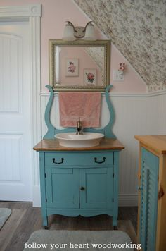 Bathroom Renovation - Part 5 - The Commode Turned into a Vanity Furniture Makeover, Home Furniture, Automotive Furniture, Automotive Decor, Rustic Furniture, Antique Furniture, Modern Furniture, Furniture Design, Repurposed Furniture
