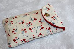 Handy Cell Phone Case Cosmetics  Pouch with snap closure $3