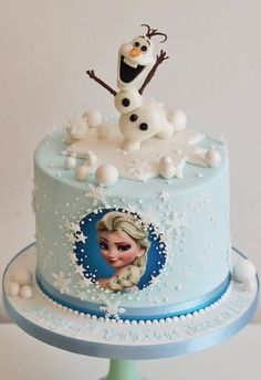 Best Birthday Cake Ideas For Girls: Frozen Cake - Elsa Cake Olaf Birthday Cake, Unique Birthday Cakes, 18th Birthday Cake, Homemade Birthday Cakes, Birthday Cake Girls, Elsa Birthday, 4th Birthday, Birthday Parties, Turtle Birthday