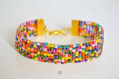 Loom beaded bracelet, friendship bracelet, colors bracelet, seed beads bracelet, boho bracelet