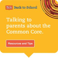 Back to School Night - Are you ready for questions about the Common Core? Prepare with these resources and tips.  #CCSS