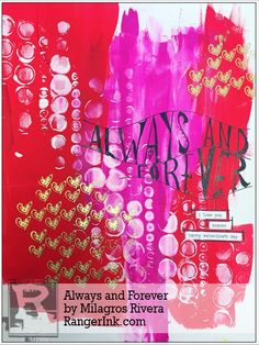 Guest Designer Milagros Rivera shares with us how how to make this Valentine's Day inpsired art journal spread using Dylusions and Dina Wakley Media products! Find Milagros' tutorial in… Valentines Diy, Happy Valentines Day, Acrylic Gel Medium, Heart Journal, Paper Mosaic, Mosaic Birds, Mixed Media Journal, Ranger Ink, Creative Journal