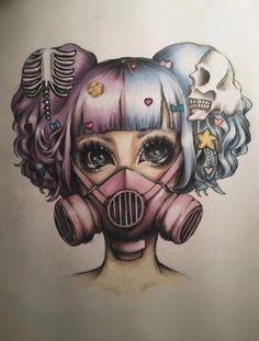 Creepy Drawings, Creepy Art, Cool Drawings, Tattoo Drawings, Tattoos, Art Goth, Pastel Goth Art, Gothic Art, Art Mignon
