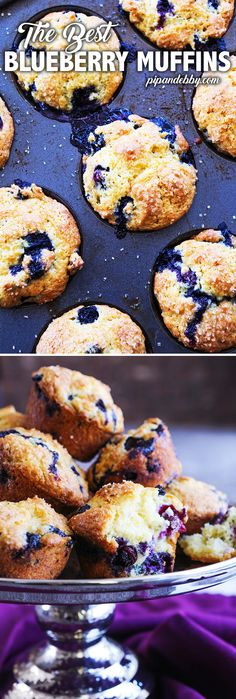 Best EVER Blueberry Muffins | These muffins turn out great every time, they are moist and totally packed with blueberries. Great as a breakfast or snack! #muffins #blueberrymuffins #breakfast