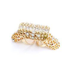 Filigree knuckle ring
