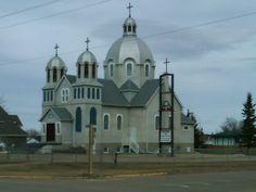 St. John the Baptist Ukrainian Catholic Church, Lamont, AB. 26 April 2013. (Photo: Hendrik Slegtenhorst)