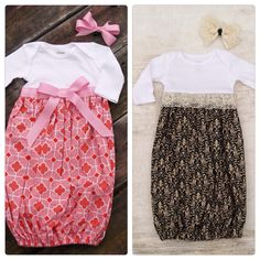 Would be easy to sew - perfect to take baby home from hospital! DIY newborn gowns