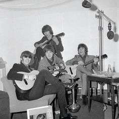 The Beatles at EMI House, Manchester Square, London. October 5, 1965.