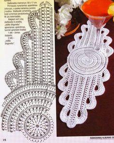 Tecendo Artes em Crochet: Dois Centros de Mesas Lindos!