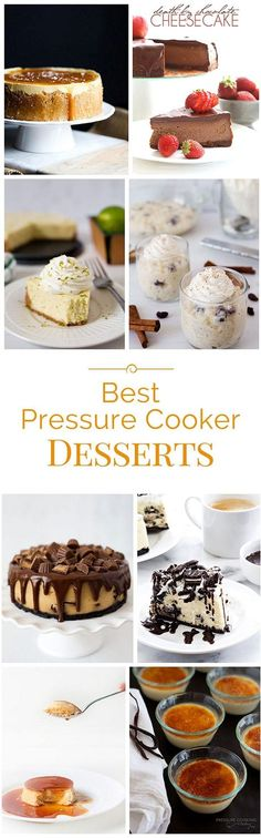 One of my favorite things to make in the pressure cooker is dessert! Today I'm sharing a roundup of some of the best pressure cooker desserts on the web. . . #dessert #pressurecooker #instantpot