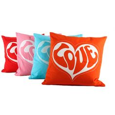 70s style Love pillow