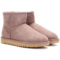 UGG Australia Classic Mini II Boots ($195) ❤ liked on Polyvore featuring shoes, boots, purple, miniature shoes, ugg, ugg footwear, purple boots and ugg shoes