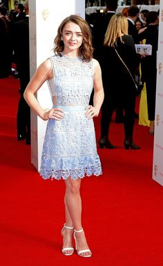 Pin for Later: See All the Stars Arriving at the 2015 BAFTA Television Awards Maisie Williams Maisie wore a Self Portrait dress.