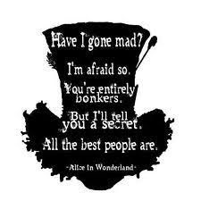 Image result for alice in wonderland quote tattoos