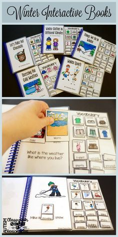 These interactive adapted books for Winter are perfect to introduce vocabulary like making hot chocolate, winter sports, winter activities, and dressing for the climate (including comparing and contrasting warm and cold winter climates). $
