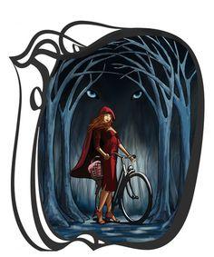 art nouveau red riding hood = YESSSS