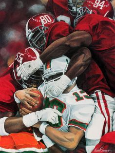 """How Sweet It Is -1993 Sugar Bowl"" by artist Noah Stokes - 1992 undefeated Alabama CrimsonTide #RTR #Tide NationalChampions"