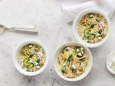 Orzo with Zucchini, Dill, and Feta