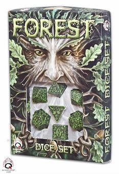 Greenman Dice / Forest Dice Set: Dice Sets: FairyGlen.com