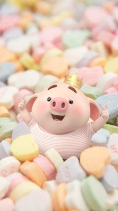 Pig Wallpaper, Cute Girl Wallpaper, Cute Disney Wallpaper, Cute Cartoon Wallpapers, This Little Piggy, Little Pigs, Beautiful Drawings, Cute Drawings, Matchbox Crafts