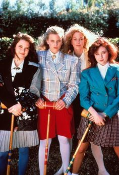 Anyone for croquet? At the start of Heathers, Winona was holding her own with the three Heathers (played by Kim Walker, Lisanne Falk and…