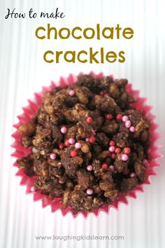 How to make chocolate crackles for kids. Great food treat to have at kids birthday parties. Easy recipe for cooking with children too.