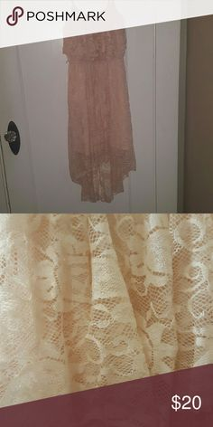Lace high low dress Only worn once! I bought for my high school graduation and haven't worn since Lily Rose Dresses High Low