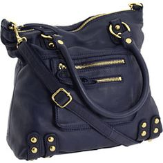 Linea Pelle Dylan: Midnight Blue Tote