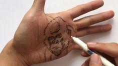 Draw Gorilla On Hand - YouTube