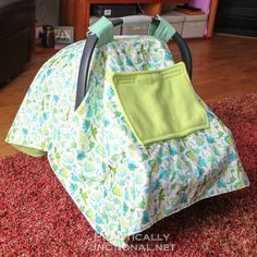 Make your own waterproof car seat canopy with this step by step tutorial!