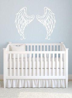 So cute!Angel Wings Vinyl Wall Decal by Vinyltastic on Etsy, $25.00