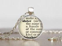 Sister zus Ketting Hanger Gift