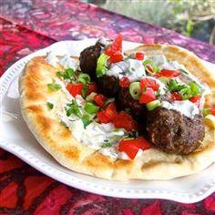 Mediterranean Beef Meatball Kabob Allrecipes.com