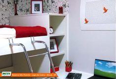 Apartamento decorado 2 dormitórios do Reserva São Vicente - Lago do Cedro no bairro Parque São Vicente - Mauá - SP - MRV Engenharia - Quarto