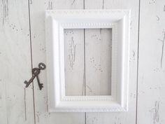 White Frame Shabby Cottage Wedding Decor by SeasideRoseCreations