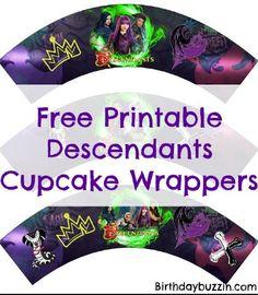 Free Printable Descendants 2 Cupcake Wrappers