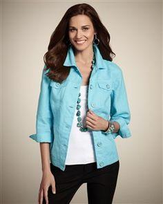 Chico's Atalia Linen Jacket