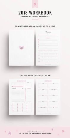 2018 New Year Planner, Resolutions Planner - So many things I want to do this year...this would be a good way to keep track of all the promises I make to myself. #ad #resolutions #newyearresolution