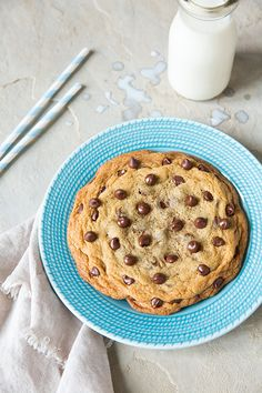 Recipe for One Chocolate Chip Cookie - Cooking Classy (use 1T egg white + drop oil instead