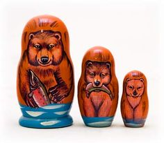 Grizzly Bear Nesting Doll 3pc./3.5