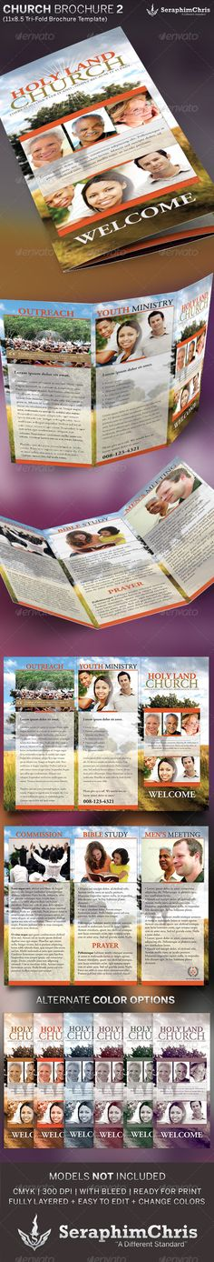 church brochures templates - 1000 images about church brochure design on pinterest