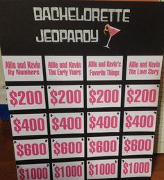 Bachelorette jeopardy I made for allies bachelorette party