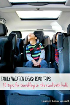 Family vacation ideas centred on road trips. 10 tried and tested tips for travelling on the road with young children.