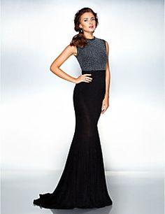 ts Couture® robe de soirée formelle - élégante taille plus / trompette petite / sirène bijou balayage / pinceau train jersey