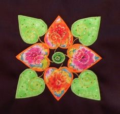 Affairs of the Heart block. Wool Applique, Applique Patterns, Applique Designs, Quilt Patterns, Art Quilting, Quilting Ideas, Quilting Projects, Appliqué Quilts, Fall Quilts
