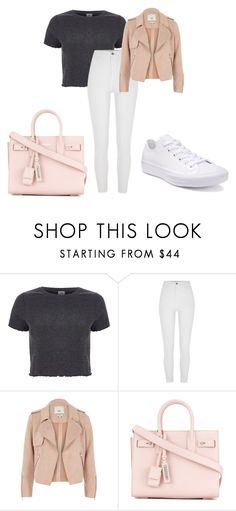 """""""CAsual"""" by anne-maren-weisser-fredriksen on Polyvore featuring River Island, Yves Saint Laurent and Converse"""