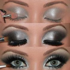 How To Apply Silver Eye Makeup Tutorial