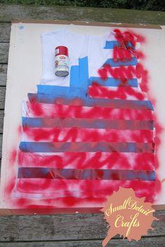 DIY 4th of July Spray Paint Tank