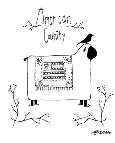 americancountrysheep Free hand embroidery patterns...some really cute ones!
